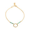 Bracelet cercle or turquoise