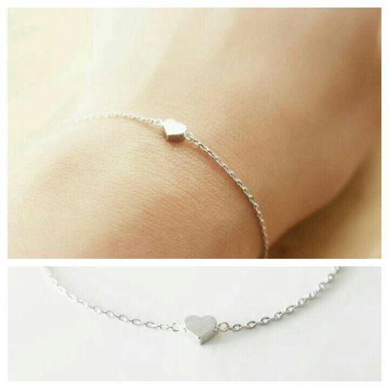 Bracelet coeur argent- cadeau amoureux