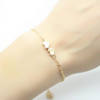 Bracelet coeurs- cadeau romantique femme