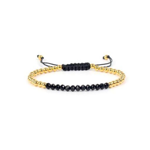 Bracelet cordon Swarovski noir
