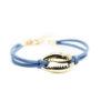 Bracelet femme cuir bleu
