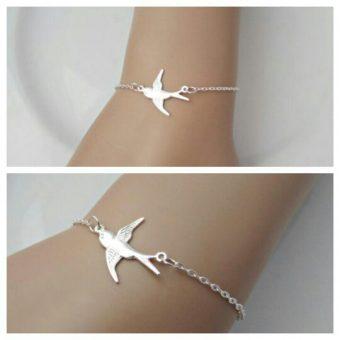 Bracelet hirondelle argent