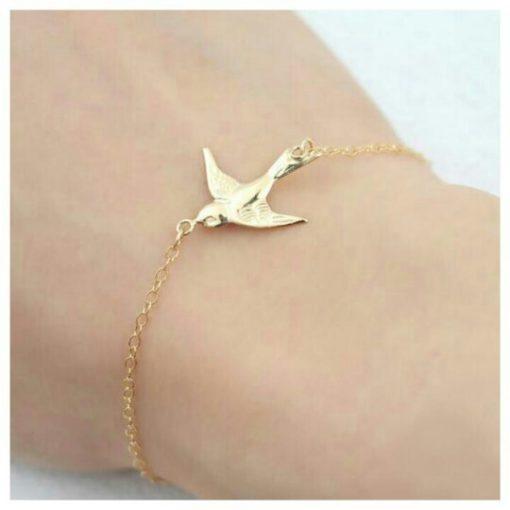 Bracelet hirondelle doré