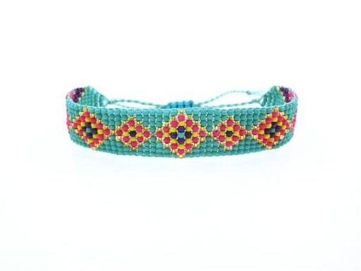 Bracelet perles rocaille turquoise