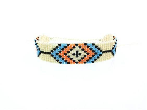 Bracelet tendance perles orange
