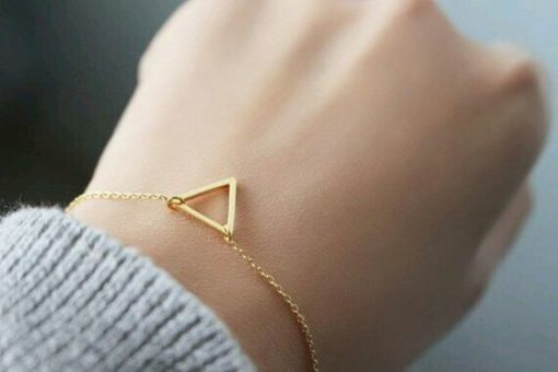 Bracelet triangle dore