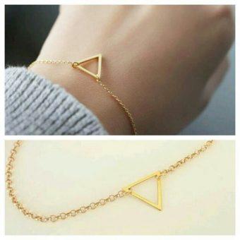Bracelet triangle dore or
