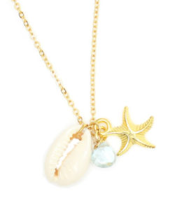 collier aigue marine or