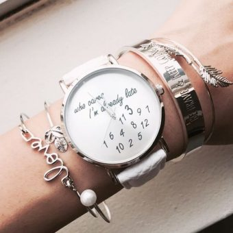 Montre im late cuir