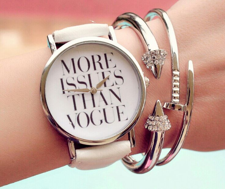 Montre more issues than vogue