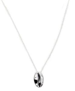 collier pendentif coquillage argent