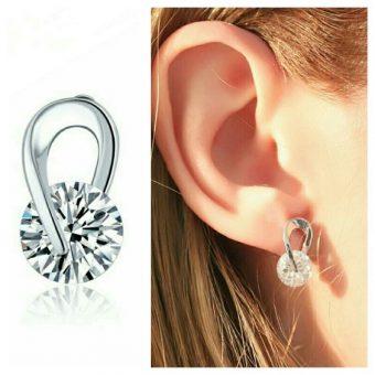 Boucles d'oreilles Oxyde de zirconium - Blanc