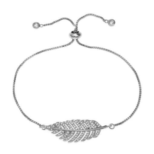 Bracelet mariage avec pierre fine et discrète