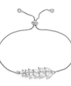 Bracelet mariage feuille