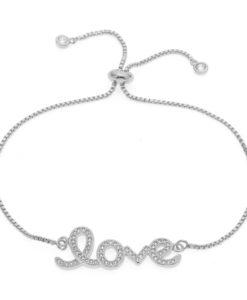Bracelet mariage love cristal Swarovski
