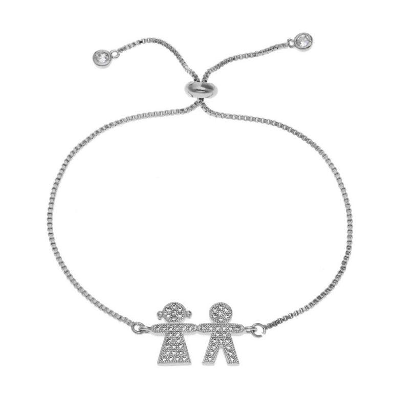 Bracelet mariage original argent