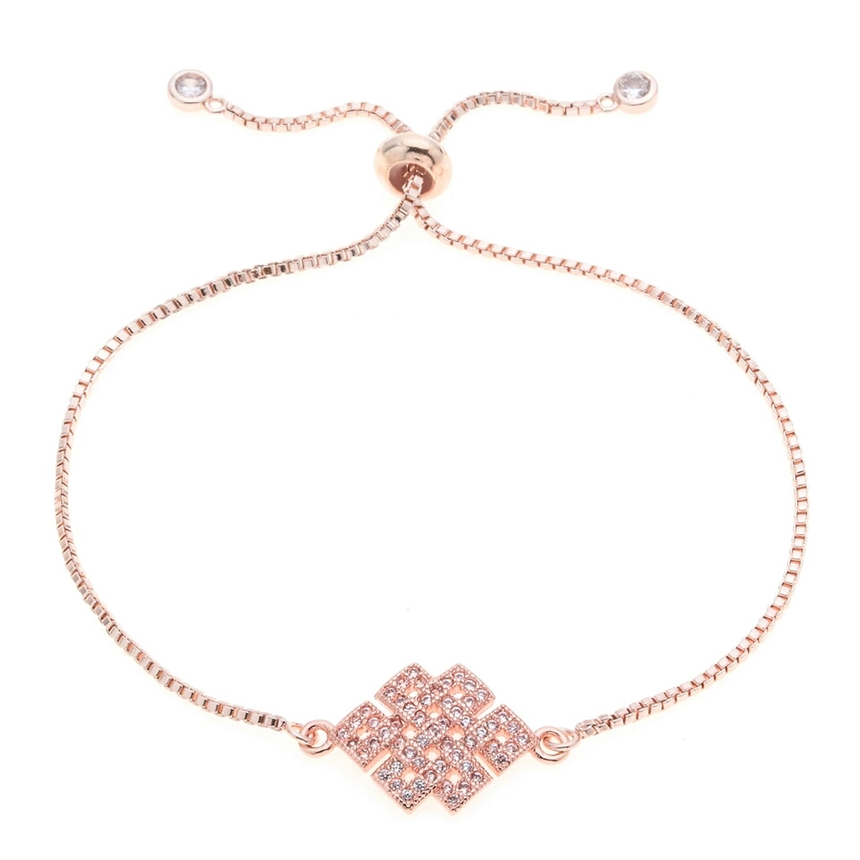 Bracelet mariage swarovski or rose