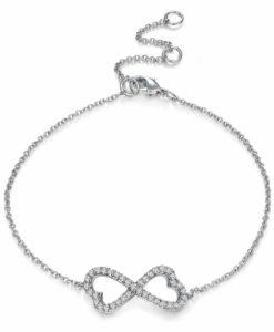Bracelet femme noeud strass