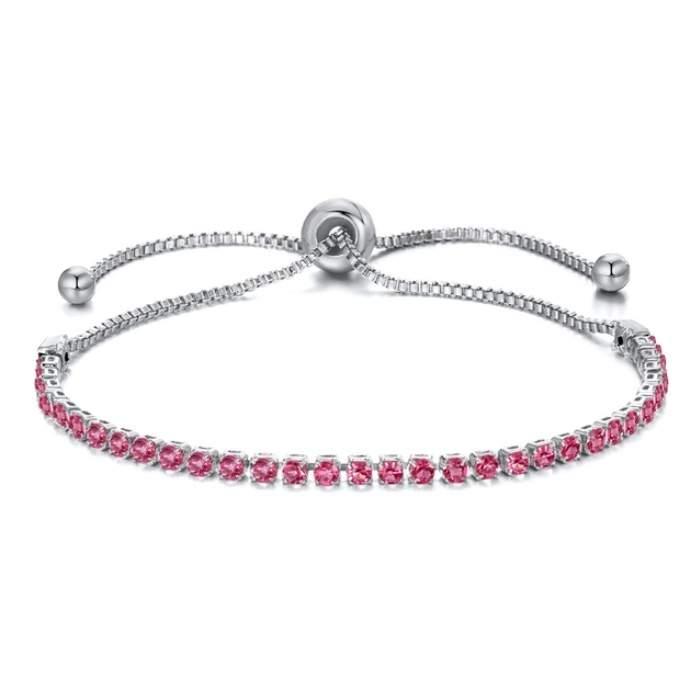 Bracelet femme strass rose