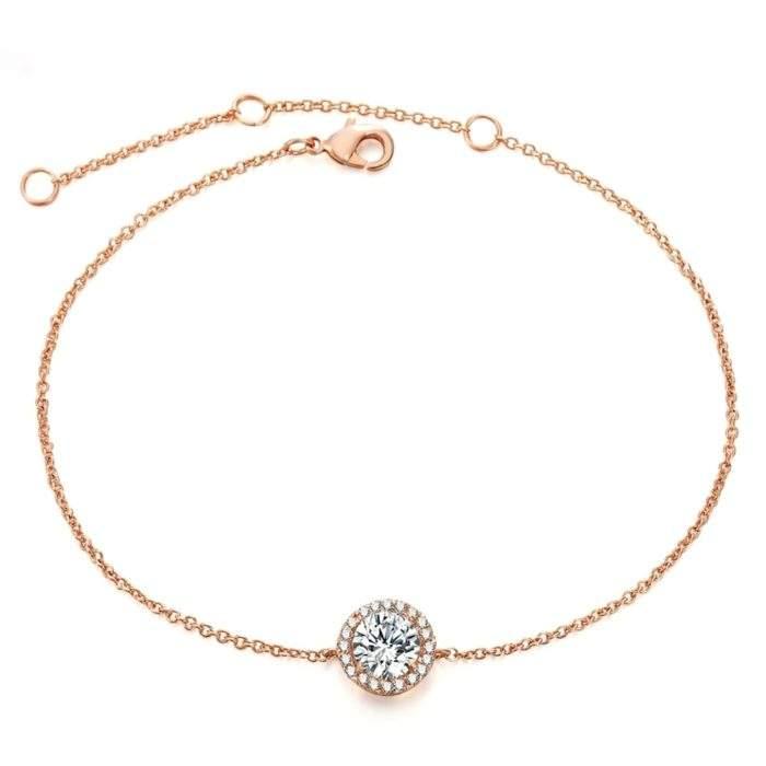 Bracelet solitaire femme