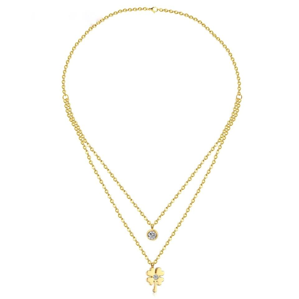 collier trefle -bijoux porte-boneur