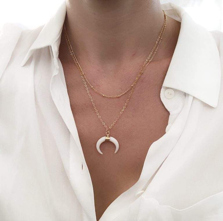 collier corne multirang