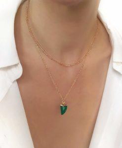 Collier cadeau femme -pierre jade