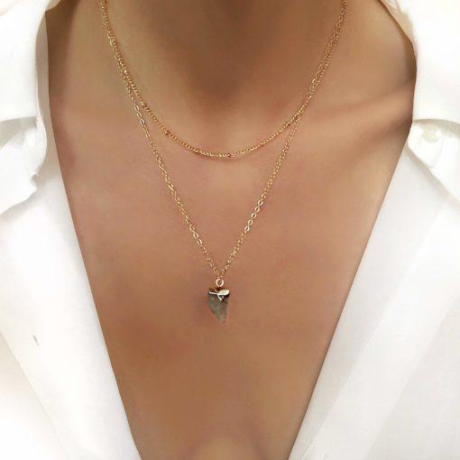 Collier cadeau femme -pierre naturelle