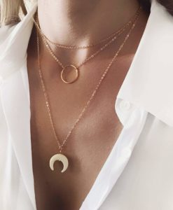 Collier original tendance 2019 - corne