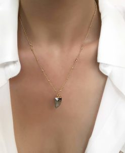 Collier simple avec pierre naturelle