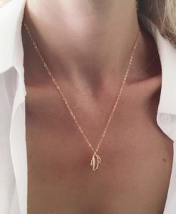 Collier tendance 2019 - coquillage or