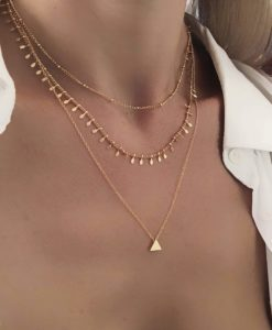 Collier tendance 2019 - multirangs pampille