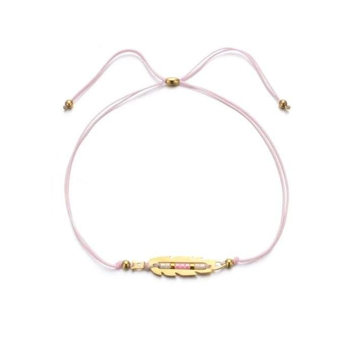 Bracelet cordon rose