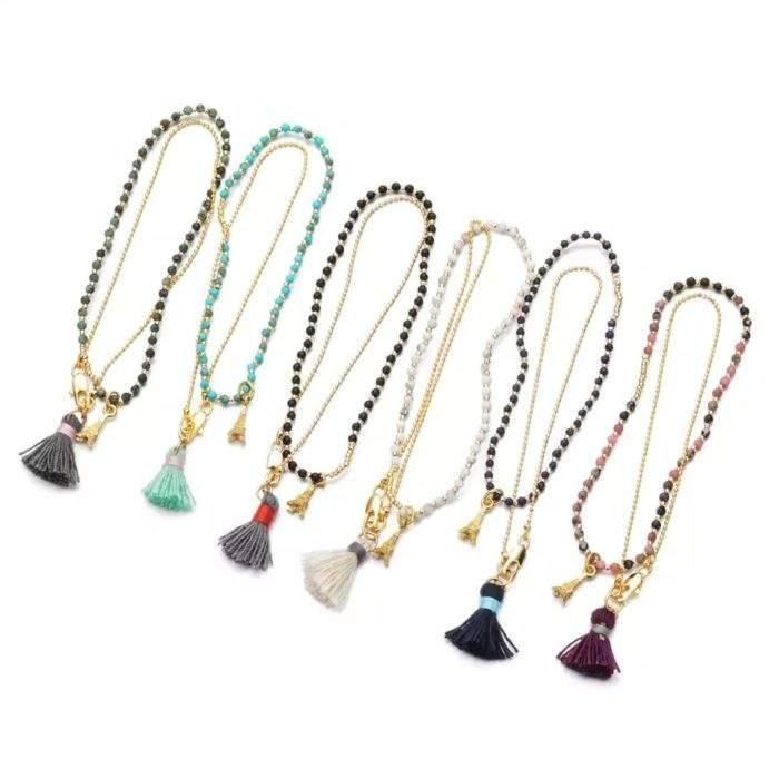 Bracelet perles tour Eiffel