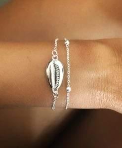 Bracelet multirangs argent