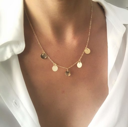 Collier dore medaillons