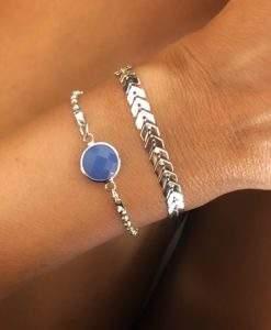 Lot de 2 bracelets argent