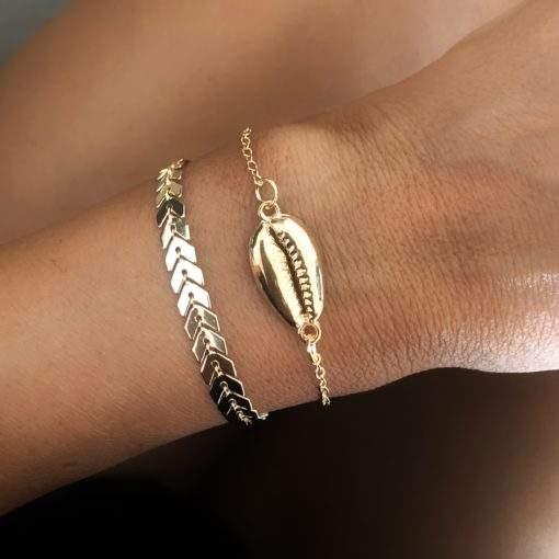 Lot de 2 bracelets femme