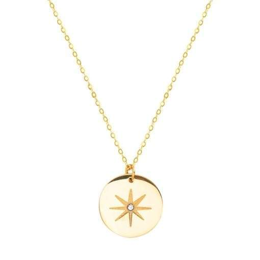 Collier medaille oeil ajouree