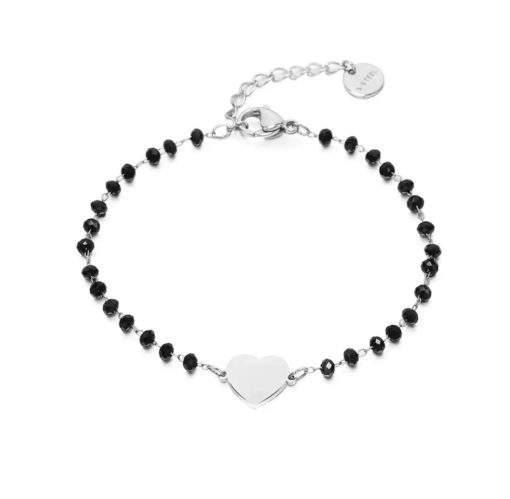 Bracelet cadeau femme- coeur argent