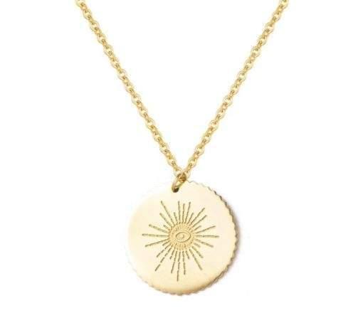 Collier medaille soleil