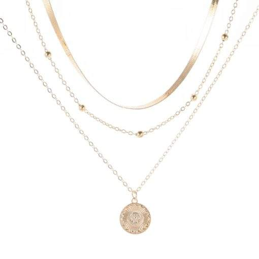 Collier multirangs chaine satellite