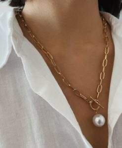 Collier perle fantaisie