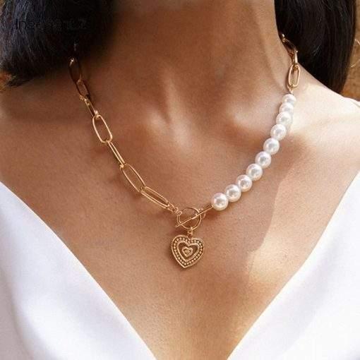 collier tendance 2020 perle