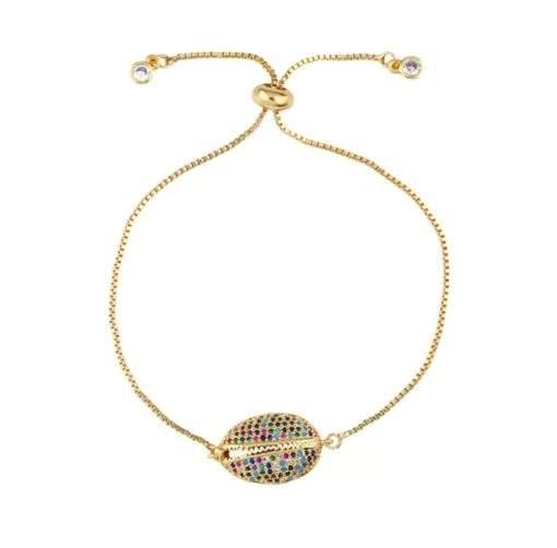 Bracelet arc en ciel - coquillage