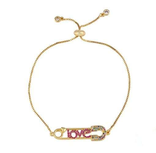 Bracelet arc en ciel- love