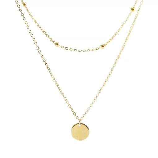 Collier chaine satellite medaille