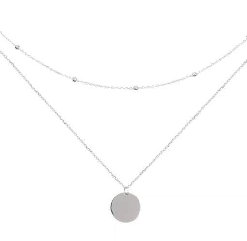 Collier multirangs chaine satellite argent