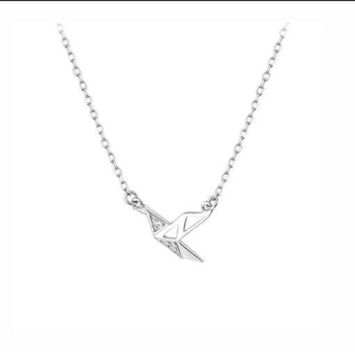 collier origami argent
