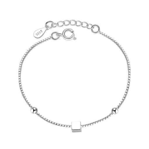 Bracelet geometrique argent